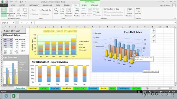 Using column and bar charts: Excel 2013: Charts in Depth