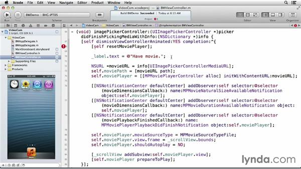 Taking videos with the camera: iOS 6: iOS System Resources