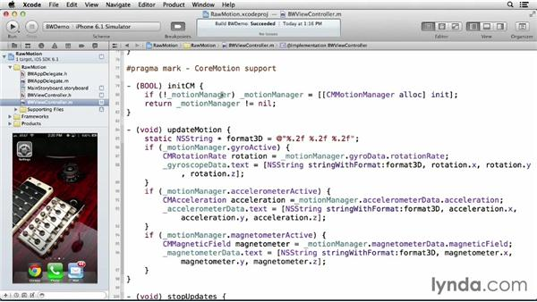 Reading raw motion data: iOS 6: iOS System Resources