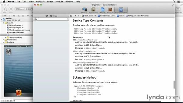 Posting to a specific social media outlet: iOS 6: iOS System Resources