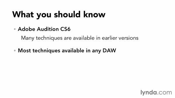 What you should know before watching this course: Building a Commercial Soundtrack in Audition