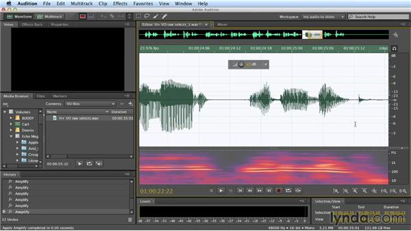 Working with voiceover tracks: Building a Commercial Soundtrack in Audition