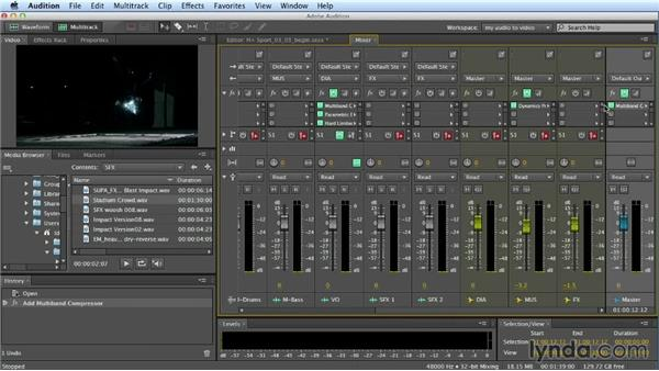 Mastering and final output: Building a Commercial Soundtrack in Audition