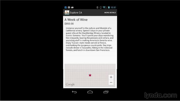 Demonstrating the finished apps: Building Mobile Apps with Google Maps Android API v2