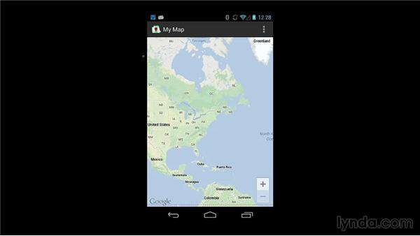 Setting a map's initial state in the layout: Building Mobile Apps with Google Maps Android API v2