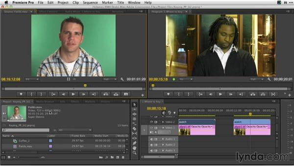 Correctly interpreting fields and frames: Adobe Green-Screen Workflow