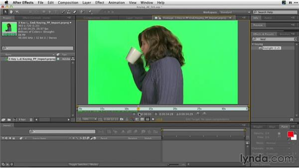 Importing projects from Premiere Pro: Adobe Green-Screen Workflow