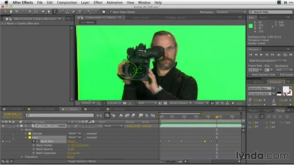 Using masks with KEYLIGHT: Adobe Green-Screen Workflow