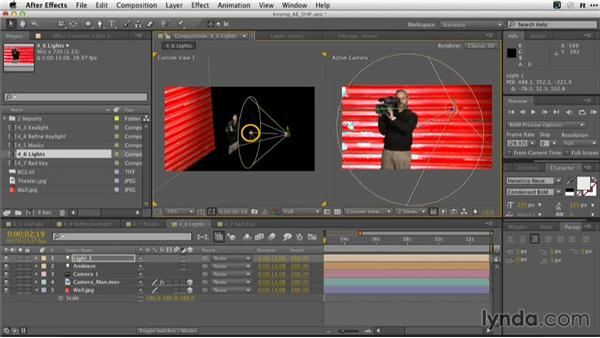 Enhancing a key with 3D lights: Adobe Green-Screen Workflow
