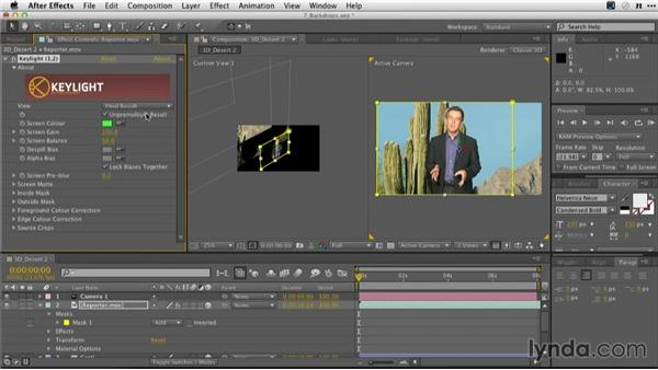 Extruding a still in 3D space to create a backdrop: Adobe Green-Screen Workflow