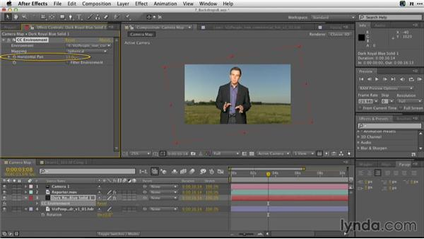 Using a panoramic photo as a camera map: Adobe Green-Screen Workflow
