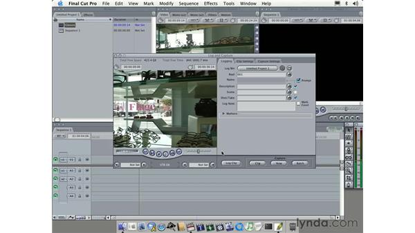 capturing part two: Learning Final Cut Pro 4