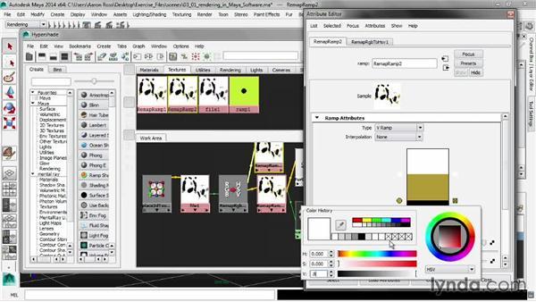 Rendering in Maya software: Creating Fur in Maya