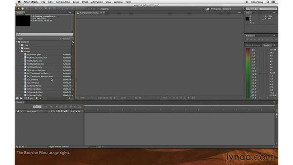 Using the exercise files: Editing and Animating to Sound with Adobe After Effects