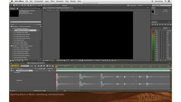 Spotting beats in music: Editing and Animating to Sound with Adobe After Effects