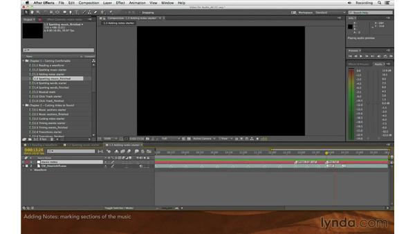 Adding notes: Editing and Animating to Sound with Adobe After Effects
