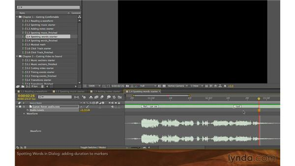 Spotting words in dialogue: Editing and Animating to Sound with Adobe After Effects