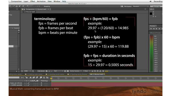 Musical math: Editing and Animating to Sound with Adobe After Effects