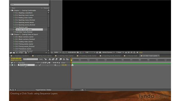 Creating a click track: Editing and Animating to Sound with Adobe After Effects