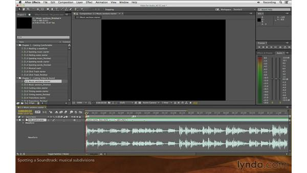 Spotting a soundtrack: Editing and Animating to Sound with Adobe After Effects