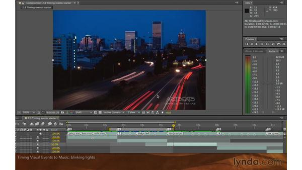 Timing visual events to music: Editing and Animating to Sound with Adobe After Effects