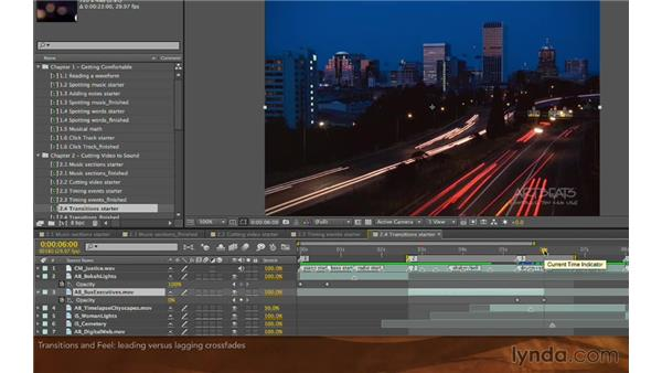 The timing and feel of transitions: Editing and Animating to Sound with Adobe After Effects