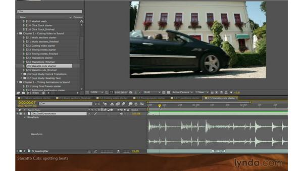 Staccato cuts: Editing and Animating to Sound with Adobe After Effects