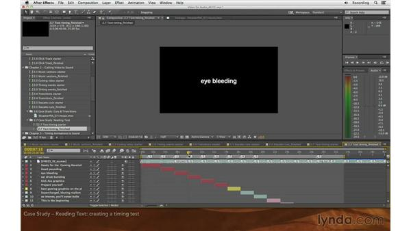 Case study: Reading text: Editing and Animating to Sound with Adobe After Effects