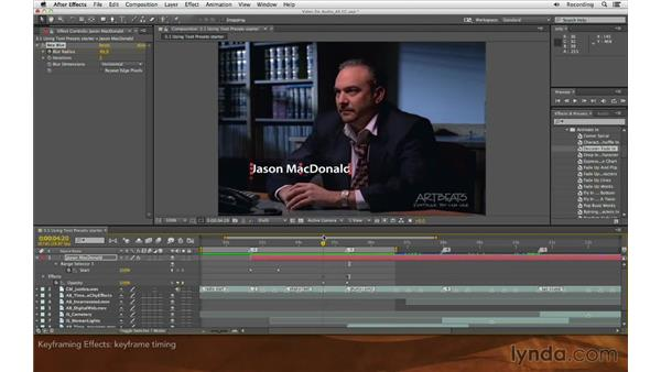 Keyframing effects: Editing and Animating to Sound with Adobe After Effects