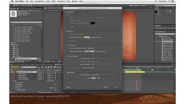 Matching frame rate to tempo: Editing and Animating to Sound with Adobe After Effects