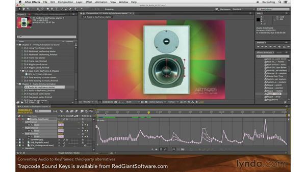Converting audio to keyframes