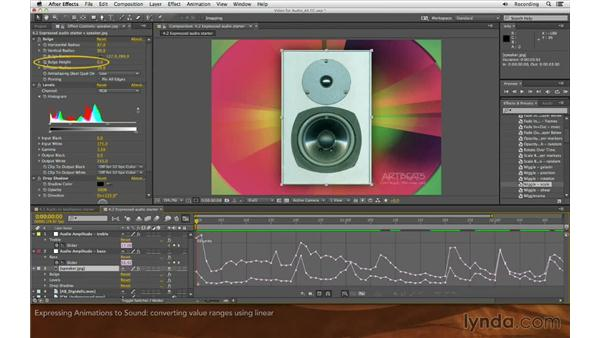 Expressing animations to sound: Editing and Animating to Sound with Adobe After Effects