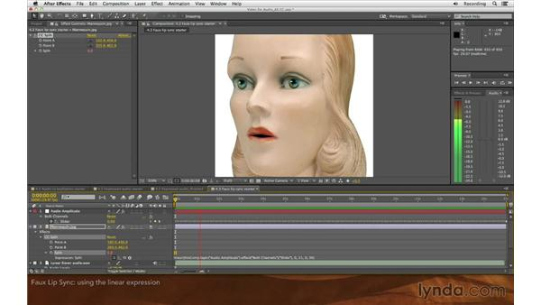 Faux lip sync: Editing and Animating to Sound with Adobe After Effects