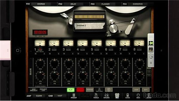 Working with Audiobus to record to and from other apps: iPad Music Production: AmpliTube