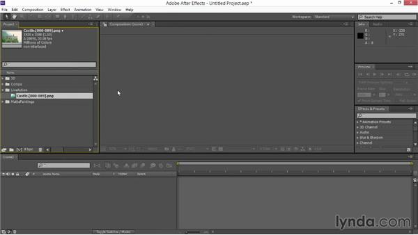 Setting up the project in After Effects: VFX Techniques: Creating Explosions with 3D Layers