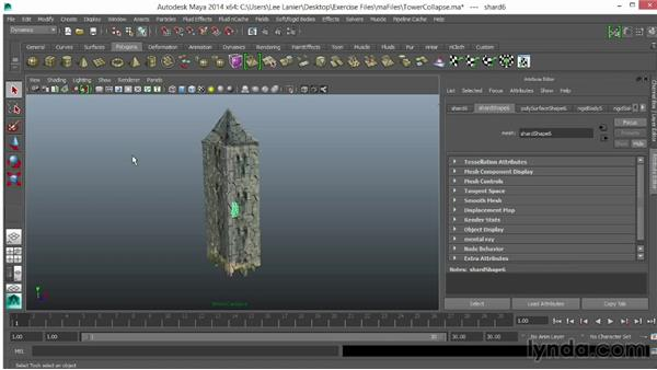 Review of tower collapse in Maya: VFX Techniques: Creating Explosions with 3D Layers