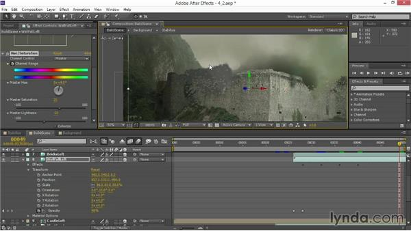Adding simulated bricks: VFX Techniques: Creating Explosions with 3D Layers