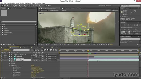 Adding explosions to the walls: VFX Techniques: Creating Explosions with 3D Layers