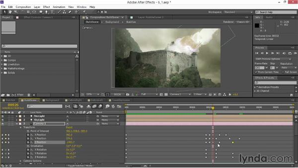 Animating the camera: VFX Techniques: Creating Explosions with 3D Layers