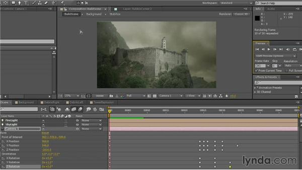 Looking at the final project: VFX Techniques: Creating Explosions with 3D Layers