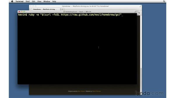 Homebrew: Ruby on Rails 3 Essential Training