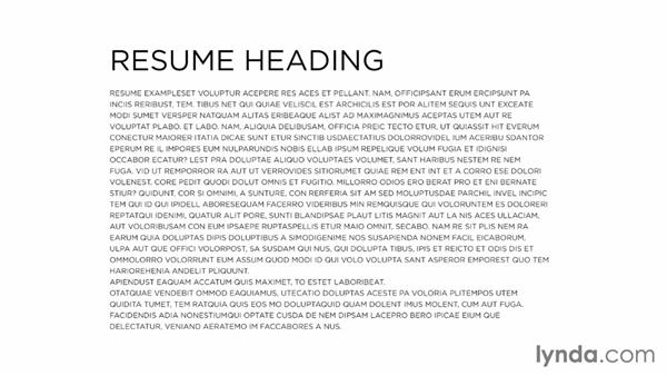 Typography considerations: Designing a Resume