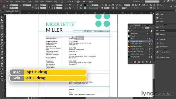 Text and style guidelines: Designing a Resume