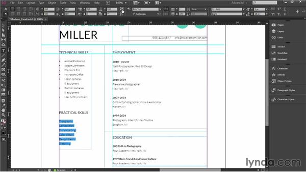 Finishing touches and tips: Designing a Resume
