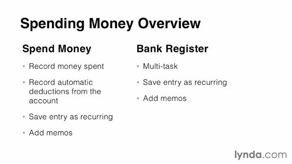 Overview of spending money from the cheque account: MYOB AccountRight Essential Training