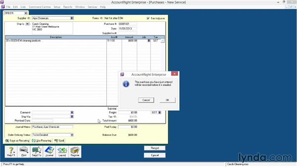 Entering purchase orders and converting them to bills: MYOB AccountRight Essential Training