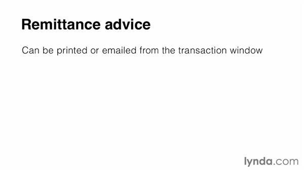 Sending remittance advices: MYOB AccountRight Essential Training