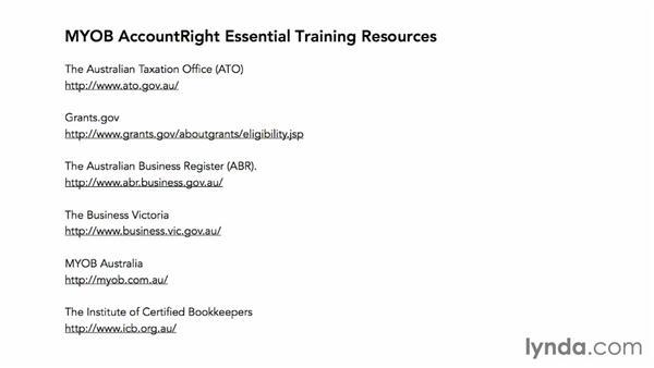 Next steps: MYOB AccountRight Essential Training