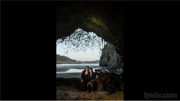 Shooting portraits in a sea cave: Travel Photography: Seaside Road Trip