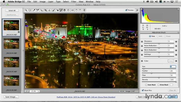 Selective recovery with Adobe Camera Raw: Creating Time-Lapse Video